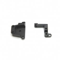 CNC Machined Aluminum Front Servo Mount Brackets (1 pair) SCX10 II Black