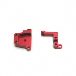 CNC Machined Aluminum Front Servo Mount Brackets (1 pair) SCX10 II Red