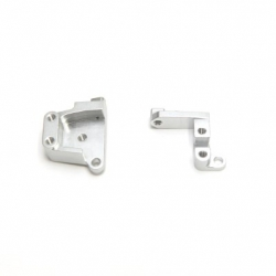 CNC Machined Aluminum Front Servo Mount Brackets (1 pair) SCX10 II silver