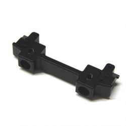 CNC Machined Aluminum Front Bumper Mount/Chassis Brace For Axial SCX10 II (Black)