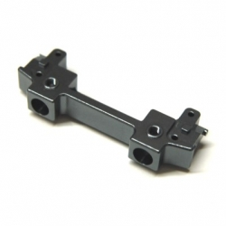 CNC Machined Aluminum Front Bumper Mount/Chassis Brace For Axial SCX10 II (Gun Metal)