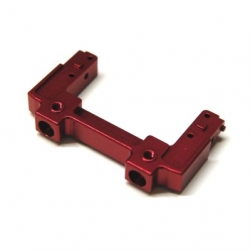 CNC Machined Aluminum Rear Bumper Mount/Chassis Brace For Axial SCX10 II (Red)