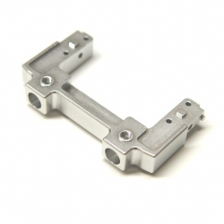 CNC Machined Aluminum Rear Bumper Mount/Chassis Brace For Axial SCX10 II (silver)