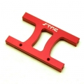 "CNC Machined Alum. HD Chassis Center ""H"" brace SCX10, SCX10 II (Red)"