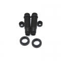CNC Machined Aluminum Shock upgrade kit for SCX10 1 pair (Black)