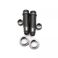 CNC Machined Aluminum Shock upgrade kit for SCX10 1 pair (Gun Metal)