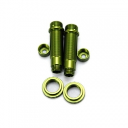 CNC Machined Aluminum Shock upgrade kit for SCX10 1 pair (Green)