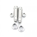 CNC Machined Aluminum Shock upgrade kit for SCX10 1 pair (Silver)
