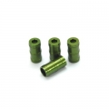 CNC Machined Aluminum high detail faux shock reservoir for SCX10, 4 pcs (Green)