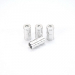 CNC Machined Aluminum high detail faux shock reservoir for SCX10, 4 pcs (Silver)
