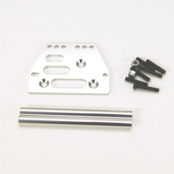 STRC Aluminum front upper 4-link conversion kit for SCX10 (Silver).