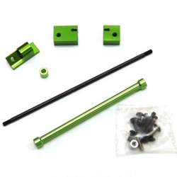 CNC Machined Aluminum Off-Axle Servo Mount/Panhard Kit for SCX10 (Green)