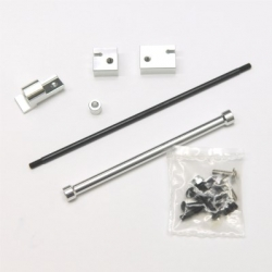CNC Machined Aluminum Off-Axle Servo Mount/Panhard Kit for SCX10 (Silver)