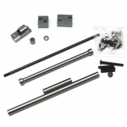 CNC Machined Aluminum Off-Axle Servo Mount/Panhard + STA30516 Steering Combo Kit for SCX10 (GM)