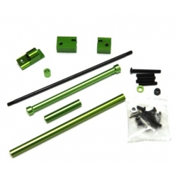 CNC Machined Aluminum Off-Axle Servo Mount/Panhard + STA30516 Steering Combo Kit for SCX10 (Green)