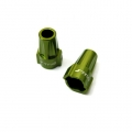 CNC Machined Aluminum Rear Lock-Outs for Axial SCX10 (1 pair) Green