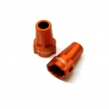 CNC Machined Aluminum Rear Lock-Outs for Axial SCX10 (1 pair) Orange (web only limited)