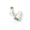 CNC Machined Aluminum Rear Lock-Outs for Axial SCX10 (1 pair) Silver
