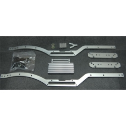 STRC Axial SCX10 Short wheelbase Chassis Conversion kit (Silver)