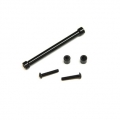 CNC Machined Aluminum Cross Brace and Shock Mount Spacer kit for SCX10 (Black)