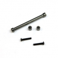 CNC Machined Aluminum Cross Brace and Shock Mount Spacer kit for SCX10 (Gun Metal)