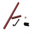 STRC Precision Aluminum Steering upgrade kit for SCX10 (Red)