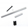 STRC Precision Aluminum Steering upgrade kit for SCX10 (Silver)