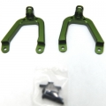 Precision CNC Machined Alum. Front Shock Tower for SCX10 (Green) 1 pair