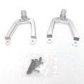 Precision CNC Machined Alum. Front Shock Tower for SCX10 (Silver) 1 pair