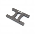 "CNC Machined Alum. HD Chassis Center ""H"" brace SCX10, SCX10 II (Gun Metal)"