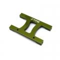 """CNC Machined Alum. HD Chassis Center """"H"""" brace SCX10, SCX10 II (Green)"""