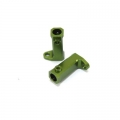 CNC Machined Aluminum Side Rail mount for SCX10 (1 pair) Green