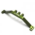 CNC Machined HD Alum. Rear upper link mount for SCX10 (Green)