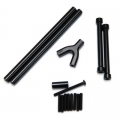 STRC CNC Machined Alum. Front & Rear Upper Suspension Link kit for SCX10 (Black)