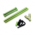 STRC CNC Machined Alum. Front & Rear Upper Suspension Link kit for SCX10 (Green)