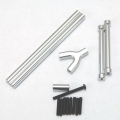 STRC  CNC Machined Alum. Front & Rear Upper Suspension Link kit for SCX10 (Silver)