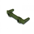 CNC Machined Alum. Front Bumper Mount for SCX10 (Rubicon, G6 only) Green