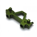 CNC Machined Alum. Rear Bumper Mount for SCX10 (Rubicon, G6 only) Green