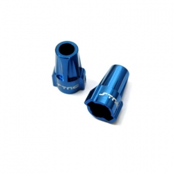 CNC Machined Aluminum Rear Lock-Outs for Axial SCX10 (1 pair) Blue (web only limited)