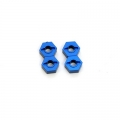 STRC CNC Machined Aluminum 12mm Hex Adapter (4 pcs) Blue