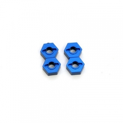 STRC CNC Machined Aluminum 12mm Hex Adapter (4 pcs) Blue