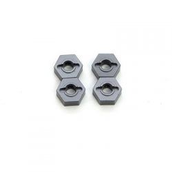 STRC CNC Machined Aluminum 12mm Hex Adapter (4 pcs) Gun Metal
