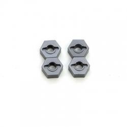 STRC CNC Machined Aluminum 12mm Hex Adapter (4 pcs) Gun Metal