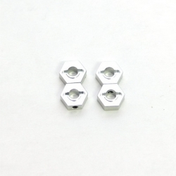 STRC CNC Machined Aluminum 12mm Hex Adapter (4 pcs) Silver