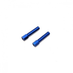 STRC CNC Aluminum Front Body Posts for Traxxas Slash/Rustler (Blue)