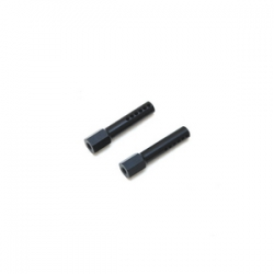 STRC CNC Aluminum Front Body Posts for Traxxas Slash/Rustler (Black)