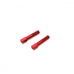 STRC CNC Aluminum Front Body Posts for Traxxas Slash/Rustler (Red)