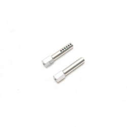 STRC CNC Aluminum Front Body Posts for Traxxas Slash/Rustler (Silver)