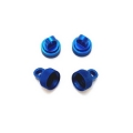STRC Aluminum CNC Machined Upper shock caps (4 pcs) for Traxxas Vehicles (Blue)