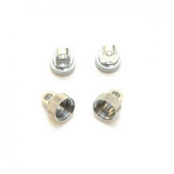 STRC Aluminum CNC Machined Upper shock caps (4 pcs) for Traxxas Vehicles (Silver)